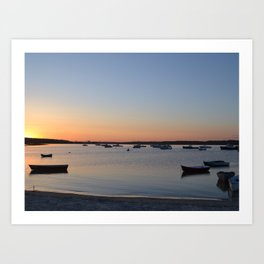 Brine & Boats • Sunset at Peaceful Pine Point Art Print