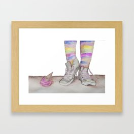 Oops! Framed Art Print