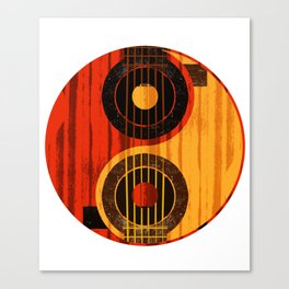 Acoustic Guitar Yin Yang Music Player Guitarist Rock Canvas Print