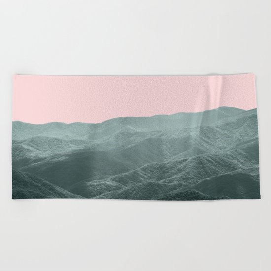 Smoky Mountain Summer Beach Towel