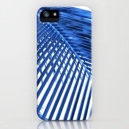 Blue Palm Leaf iPhone Case