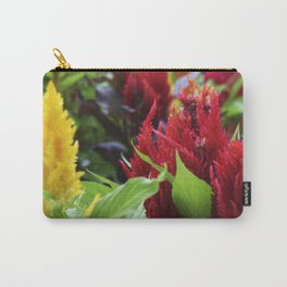 Red and Yellow and Pink Flowers Planted Carry-All Pouch