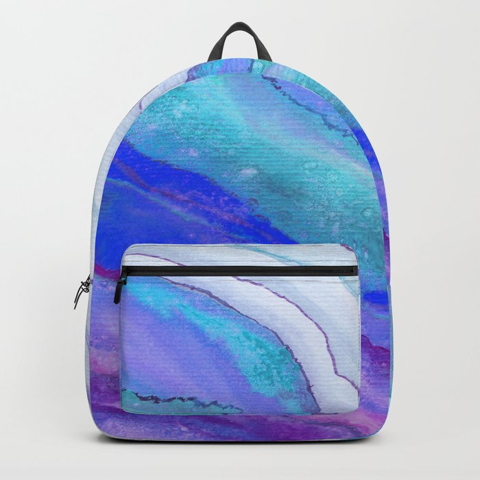 AGATE Inspired Watercolor Abstract 07 Backpack