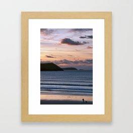 Polzeath Sunset Framed Art Print