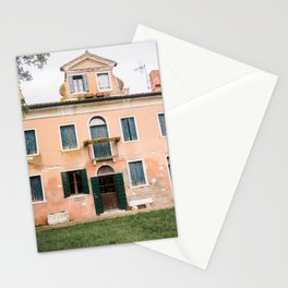 orange house | pastel | italy | europe | travel photography Stationery Cards