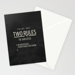 There Are Two Rules To Success Stationery Cards