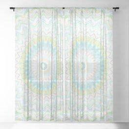 Boho mandala Sheer Curtain