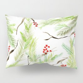 Winter Watercolor Branches Pillow Sham