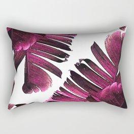 Banana Leaf - Tropical Leaf Print - Botanical Art - Modern Abstract - Violet, Purple, Magenta, Lilac Rectangular Pillow