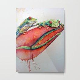 Le Frogz Metal Print