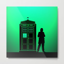 Tardis With The First Doctor Metal Print