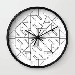 Interlock Mandala Wall Clock