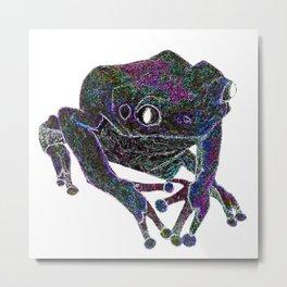 Psychedelic Giant Monkey Frog Metal Print