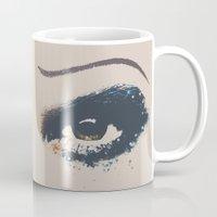 hedwig Mugs featuring Hedwig Eye by byebyesally