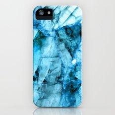 Blue crystal iPhone SE Slim Case