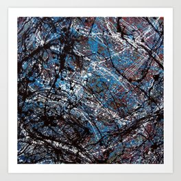 """""""Number 4"""" Abstract Painting by Mark Compton Art Print"""