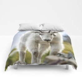 The Ups and Downs of Being a Mountain Goat No. 3 Comforters
