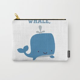 CARTOON WHALE Carry-All Pouch