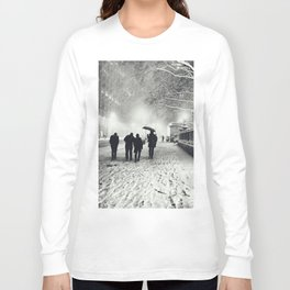 New York City Snow Bryant Park Long Sleeve T-shirt