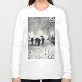 New York City Snow Bryant Park Long Sleeve T-shirt