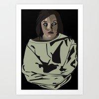 abigail larson Art Prints featuring Abigail by biancahatesyou