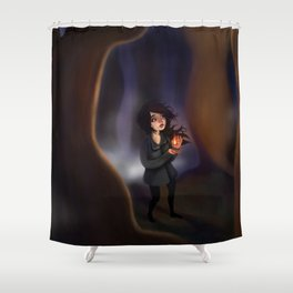 A Contained Flame Shower Curtain