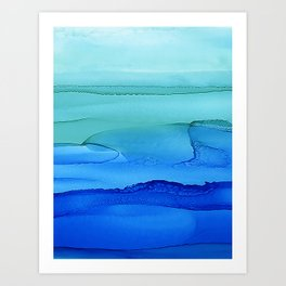 Alcohol Ink Seascape Art Print