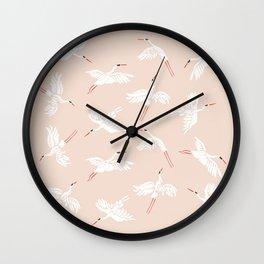 Crane Dance Wall Clock