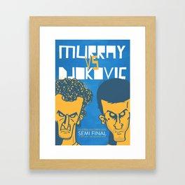 Murray vs Djokovic Framed Art Print