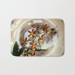 A Brushstroke Of Orchid Genus Bath Mat