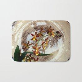 A Brushstroke Of Orchid Genus Bath Mat