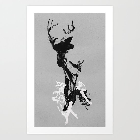 Last time I was a Deer Art Print
