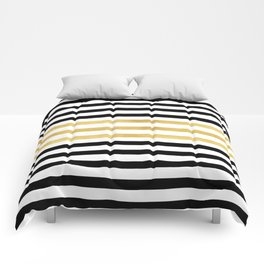 Luxurious zebra golden black lines Comforters