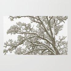Foggy Winter Tree Rug