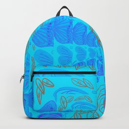 Blue Butter Fly Backpack