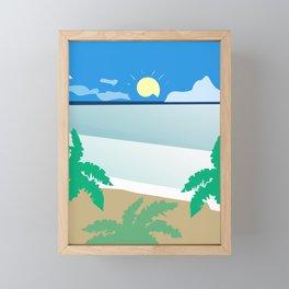 Tropical beach Framed Mini Art Print