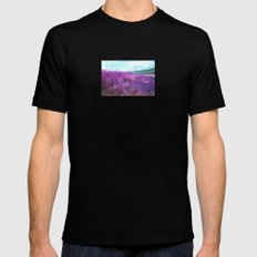 Wild Sunflowers by the Road Mens Fitted Tee MEDIUM Black