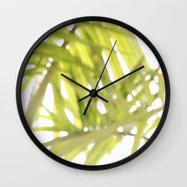 Abstract foliage Wall Clock