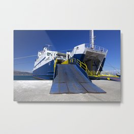 Ionian ferry Ramp Metal Print
