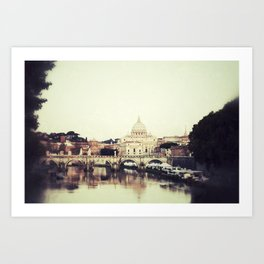 Tiber River Art Print