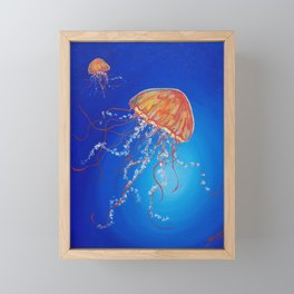 Jellyfish, Oil painting by Faye Framed Mini Art Print