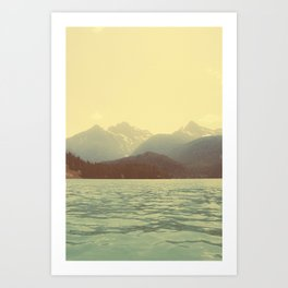You are a ghost to me - Diablo Lake Art Print