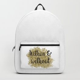 Within and without - golden jazz Backpack