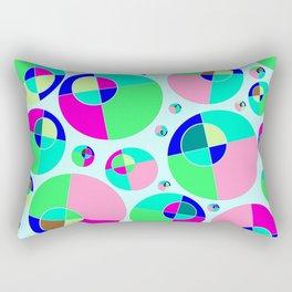 Bubble pink & green Rectangular Pillow