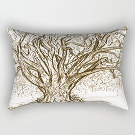 Love Tree Graphite Illustration Rectangular Pillow