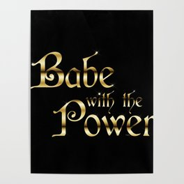 Labyrinth Babe With The Power (black bg) Poster