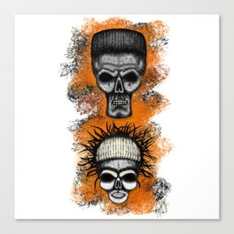 Yolandi and ninja style ErrorFace Skulls Canvas Print