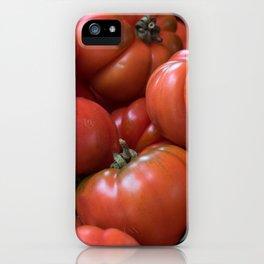 #big #fresh #red #Tomato  iPhone Case