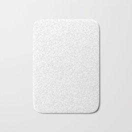Tiny Spots - White and Pale Gray Bath Mat