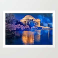 Bokeh Jefferson Memorial Art Print